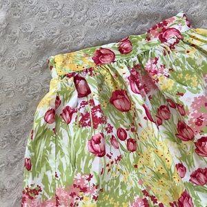Hartstrings Skirt Tulip Flower Print Size 4